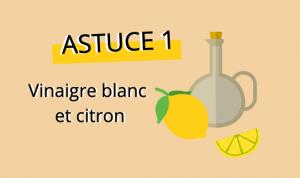 Nettoyant pour four numéro 1 : vinaigre blanc et citron